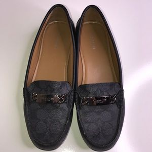 COACH Black Style Olive Loafers Size 9 B Slip-On